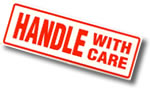 Handle With Care (long) Packaging Sticker