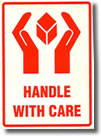 Handle With Care Packaging Sticker