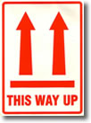 This Way Up Packaging Sticker